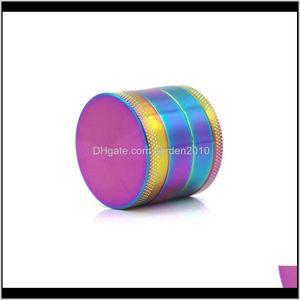 Otros accesorios 40 mm hierba 4 capas aleación de zinc arco iris arco iris tobacómetro amoladoras a base de hierbas fumadores 6 colores al por mayor vn7ty zslym