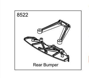 ZD racing EX07 super sports car 1 7 original accessories 8522 rear anti-collision