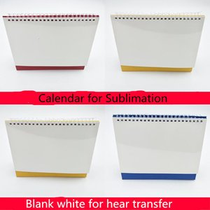 Sublimation Blank calendar Desktop DIY table Calendar Steel Coil Spiral Desk Calendar DIY Photo Agenda Table Planner with Blank Page Cover