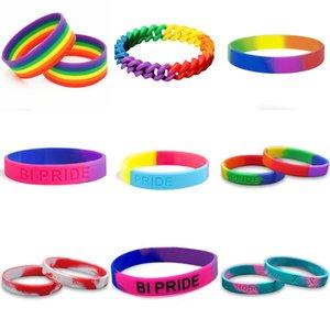 LGBT Bractele Gay Pride Braclets Lesbian Rainbow Силиконовая резина Опора L G B T Правильные браслеты LGBTQ Ювелирные подарки