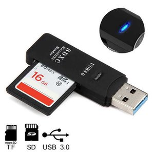 USB3.0 Mini Card Reader Black MINI 5Gbps Super Speed USB 3.0 Micro SD SDXC TF Card Reader Adapter lector tarjetas interno
