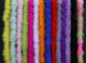 Party Decoration Diameter 8-10CM 2Meter Strips Fluffy Turkey Feathers Boa Marabou Black White Feather for Crafts Boas Strip Carnival Costume
