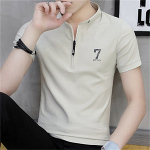 Luxury T-shirts 2021 Summer Short T-shirt Korean Half Sleeve Polo Shirt Brand Stand Collar T-shirt Men's Fashion