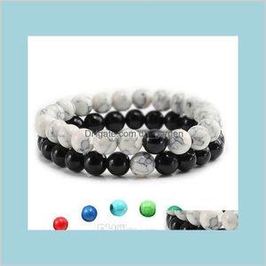 High Quality Women Yoga Prayer Sets Natural Stone Turquoise Colorful Buddha Charm Jewelry Pendant Beads Bangles Woilm Beaded Strands Grcsu