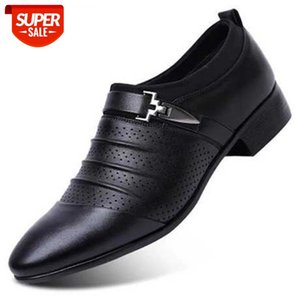 Slip Dress Office Shoes Men Classic Luxury Plus Size Formal Italian Brand Loafers Mens Erkek Ayakkab #ij8S