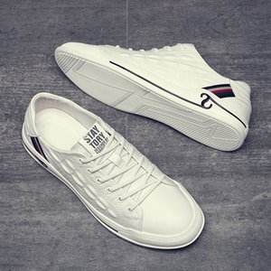 Spring and Autumn New Mens Shoes Low-Top White Shoes Mens Trendy All-Match Crocodile Pattern Casual Shoes White Skate Mens Breathable