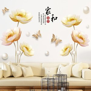 Wall Stickers Flowers 3D Living Room Bedroom Bathroom Teen Decor Aesthetic Self Adhesive Wallpaper Poster