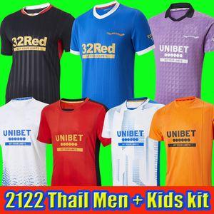 2021 2022 Rangers 150th Anniversary Soccer Jerseys third away Glasgow TRAINING CHAMPIONS 55 DEFOE HAGI BARKER TAVERNIER 21 22 Football Shirts Men + kids kit tops home
