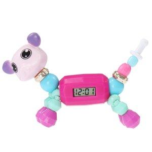 Новая цепь любви эльф DIY браслет из бисера мультфильм животных волшебный сорт детские образовательные игрушки электронные часы