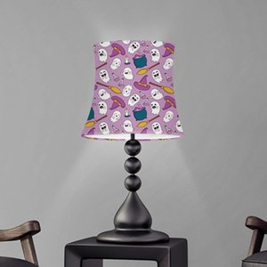 Lamp Covers & Shades Cute Cartoon Halloween Ghost Pattern Pink Table Shade Dust Proof Cover Washable Screen Bedroom Lampshade Abajur