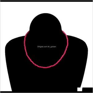 Beaded Necklaces Pendants Drop Delivery 2021 Crystal Fine Long Elastic Cutting Facets Glass Beads Stretched Bracelet Jewelry Short Solid Colo