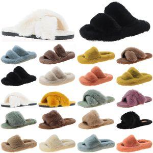 2021 luxury women slides slippers shoes womens comfortable loafer black yellow slide slipper flat flip flops size 35-40 color1