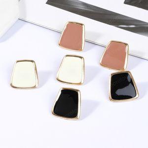 Fashion Colorful Geometric Korean Stud Earrings For Women Girl Statement Simple Earring Jewlery