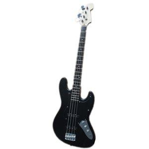 Custom Made 4 Strings jb Electric Bass Guitar,Matte Black Body ,Maple Neck ,Rosewood Fingerboard,Chrome buttons,Black Pickguard