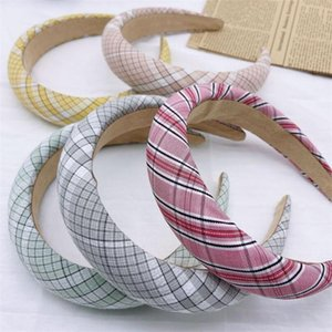 Fashion Luxury Headbands For Women Head Ornaments Padded Headband Tiaras Hair Jewelry Girls Thick Hairbands Accessories Clips & Barrettes