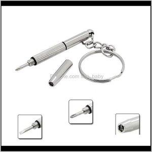 Keychains Fashion Chain Multifunctional Combination Screwdriver Portable Mini Utility Pocket Multi Tool Keychain Key Ring Kmmai Xhjmv