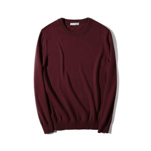 Men Autumn Long Sleeve Multi-color Wine Red Sweater Cute Oversized Boys Sweaters Knitted Pullover Male Fashion casual Knitwear