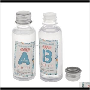 Craft Tools 4 Bottles Ab Clear Crystal Epoxy Resin Glue 200G For Diy Crafts 11 13 Xdksv Kg4Cj