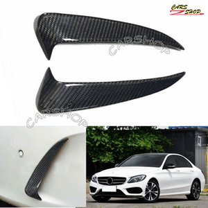 For Benz W205 C300 C63 15-19 Real Carbon Fiber Rear Bumper Side Vent Cover Trim