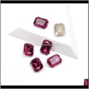 Decorations Salon Health Beauty Drop Delivery 2021 Yanruo 4627 Quality Nails Rhinestone Fuchsia Color Octagon Shape Shing Crystal Glass Rhine