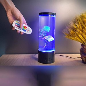 Table Lamps LED Night Light Colorful Starry Atmosphere Home Decoration Remote Control Simulation Jellyfish Lamp Practical Indoor Lighting