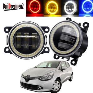 Other Lighting System 2 X Angel Eye Fog Light Assembly Car Front Bumper LED Lens DRL Driving Lamp 30W 6000LM 12V For Clio IV 2012-20