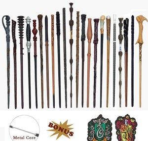 Autres accessoires de mode Drop Drop Livraison 2021 Noyau métallique S Baguettes magiques Cosplay Ron Voldemort Hermione Magical Wand Harrid Tissu étiquette comme bonu