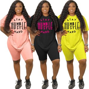 الصيف زائد حجم النساء الملابس S-3XL سحب قطع مجموعة رياضية موضة جديدة إلكتروني إلكتروني الطباعة عارضة دعوى 8354