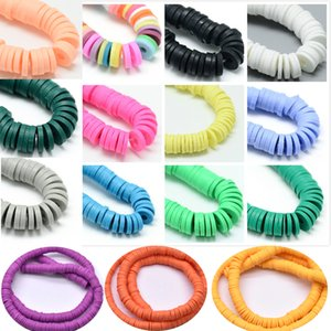 1 String 6mm DIY Jewelry Findings Clay Beads Mix Color And Mix Design Bracelet Boho Jewelry Earring Spacer Beads Disk Wholesale 1028 T2