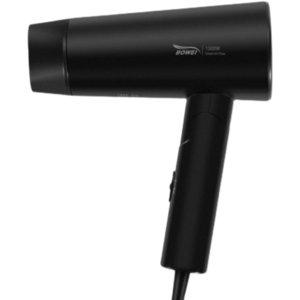 Long term temperature control negative ion portable foldable hair dryer