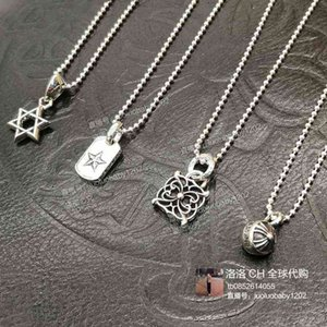 Chromehearts croxin five pointed star Butterfly Ball Cross Pendant Necklace for men and women
