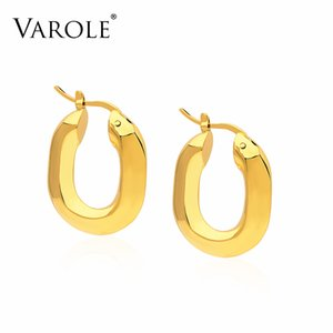 VAROLE Simple Earrings For Women Gold Color Geometry Hoops Earings Fashion Jewelry Gifts Kolczyki