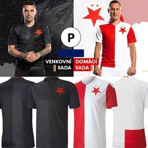 Tailandês 20 21 SK Slavia Praha Soccer Jersey República Checa Casa Branco e vermelho S.Tecl O.Kudela Petar Musa Romania Stanciu Camisa de futebol de alta qualidade