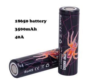 Yüksek Kalite 40A 18650 Pil 3500 mAh IMR 3.7 V Vape Mod Şarjlı Lityum Piller Hücre E Çiğ Kutu Mod DHL için Hızlı