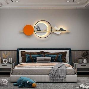 Wall Lamps Orange&Green Modern LED Lamp Living Dining Room Bedside Nordic Decotation Lights AC90-260V Sconce Fixtures Lighting