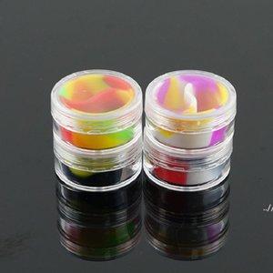 Color 10ML Acrylic Silicone Cigarette Ointment Box Cosmetic oil cream boxes Portable Pill Solid E-liquid case DWB6965