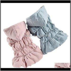 Costumes Pink Blue Fur Female Dog Pet Warm Dresses Hoodie Princess Sleeve With Bubble Skirt Winter Xs Xxl Xxxl Cat Coat Outfit Wholesa Dn3Zr