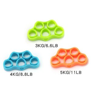 Itstyle Finger Resistance Bands 3 Level Yoga Exercisers Stretcher Rehabilitation Training Pull Ring Hand Expander Grip sqcujP pingtoy