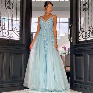 Арабский aso ebi линия длинные кружевные вечерние платья с аппликациями спагетти спинной длиной от задней двери формальные платья