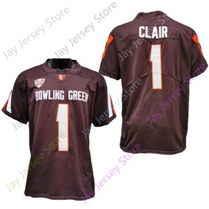 2020 New NCAA Bowling Green BGSU Jerseys 1 Clair College Football Jersey Coffee Size Youth Adult All Stitched