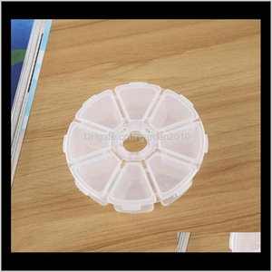 Boxes Bins 8 Compartment Round Plastic Clear Storage Small Box For Jewelry Earrings Toys Container Elh042 Vbnnl Wiyir