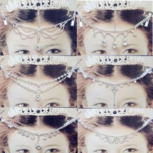 Head Pieces children's forehead Princess chain girls Latin dance headdress forehead chain eyebrow pendant jewelry hair accessories