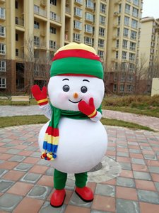 Christmas snowman baby boy Mascot Costume Fancy Dress For Halloween Carnival Party support customization
