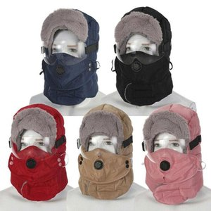 Winter Bomber Hats Gloves Sets With Goggles Windproof Cap Russian Outdoor Cycling For Women Hood Earflap Hat Ski Men R I5K2WYKH