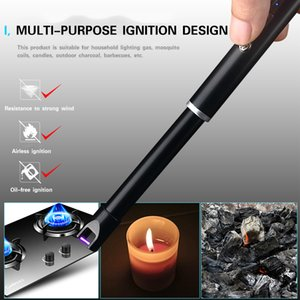 Safety Long Candle Kitchen Electric USB Lighters BBQ Rechargeable Windproof Hose Torch Electric Plasma Arc Lighters Smoking