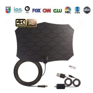 4K   ATSC indoor digital TV antenna ground wave TVs signal receiver portable HD 800 miles support 1080p Telivision antennas