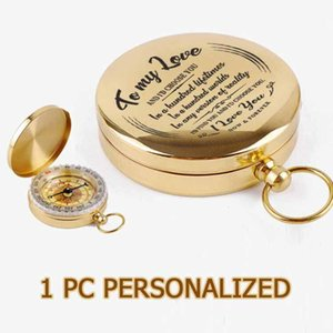 1pc Cusotmized Engrave Compass For Son Drop Personalized Christmas Gifts Navigator Functional 2021 ZNZ013 Outdoor Gadgets