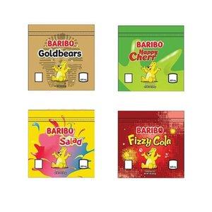 BARIBO BARIBO EDVIME SAC BARIBO RESELLABLE Goldbears Happy Cerises Baies Salade de fruits Fizzy Cola Pêches Mylar Emballage