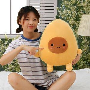 Creative Avocado Pillow Cartoon Cute Plush Fruit Gift Large Toy Doll