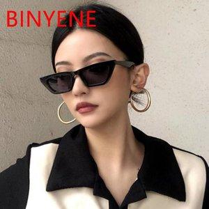 Старинные прямоугольники кошка глаз женские солнцезащитные очки маленькая рама черные оттенки 2021 тенденция дизайнер бренда летние путешествия солнцезащитные главы UV400